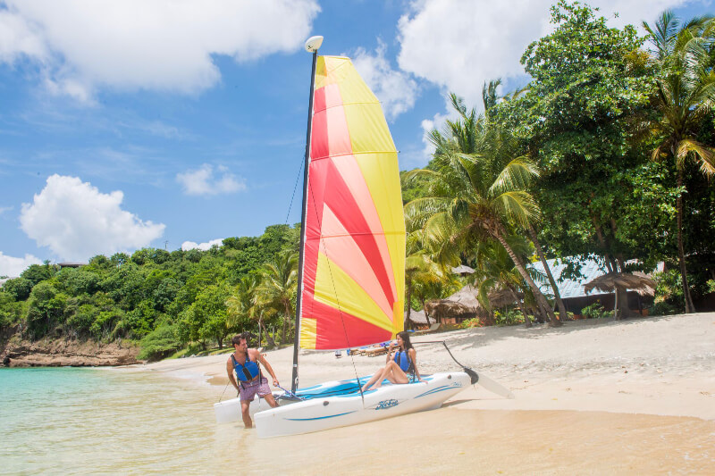 caribbean watersports at laluna on the island of Grenada