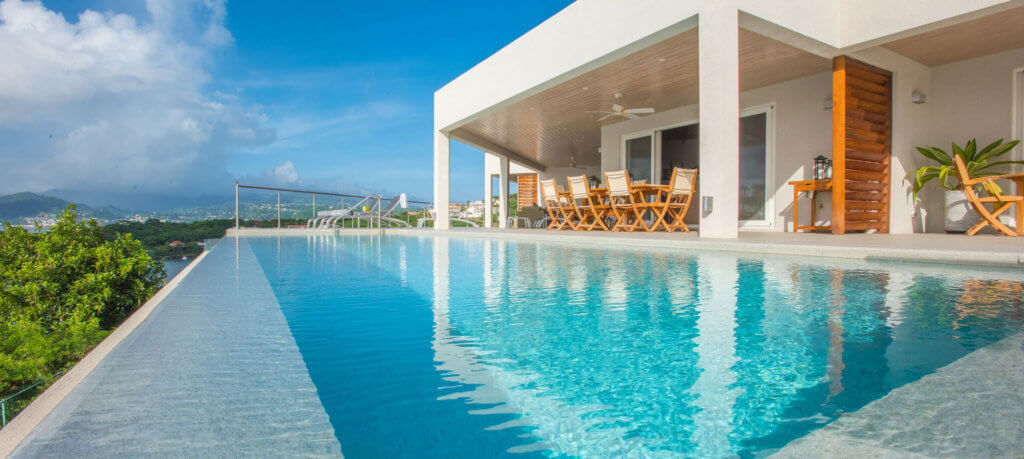 grenada villas pool deck