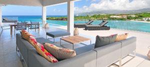 luxury caribbean villas outdoor living