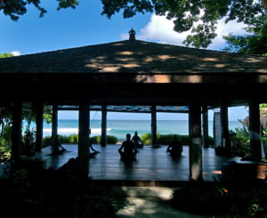 open air yoga pavilion