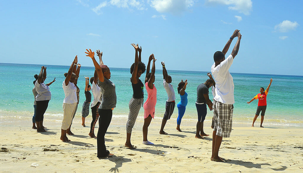 yoga on the beach charity retreat
