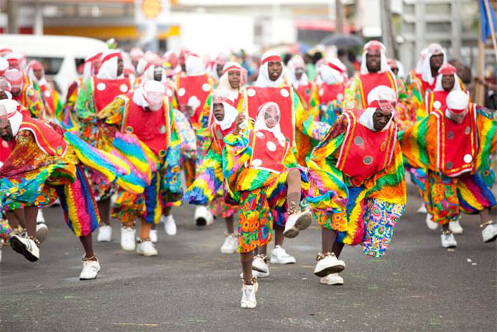 caribbean festival grenada short knees dancers