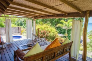 secluded cottages, secluded verandas,