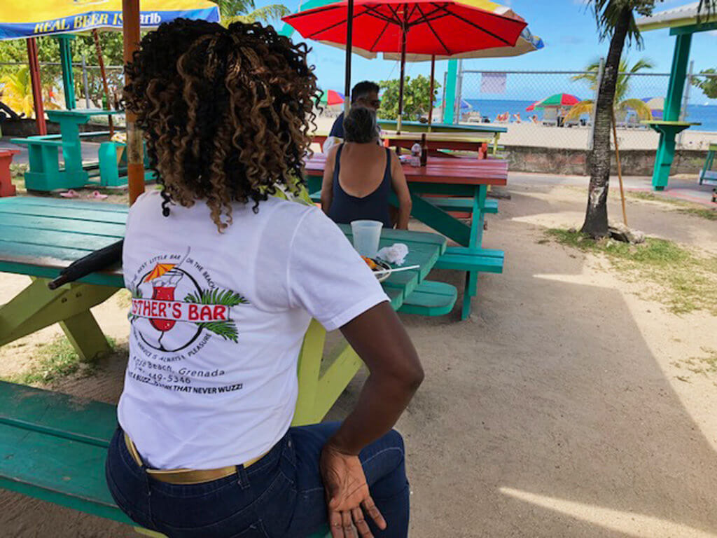 esthers bar Grenada Grand Anse Vendors Market