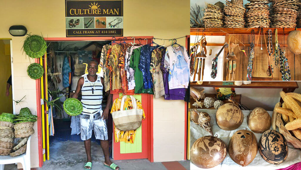 Grenada Grand Anse Vendors Market vendor Frank Culture Man