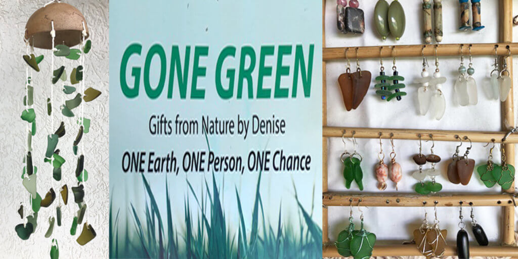 gone green vendor at the Grenada Grand Anse Vendors Market