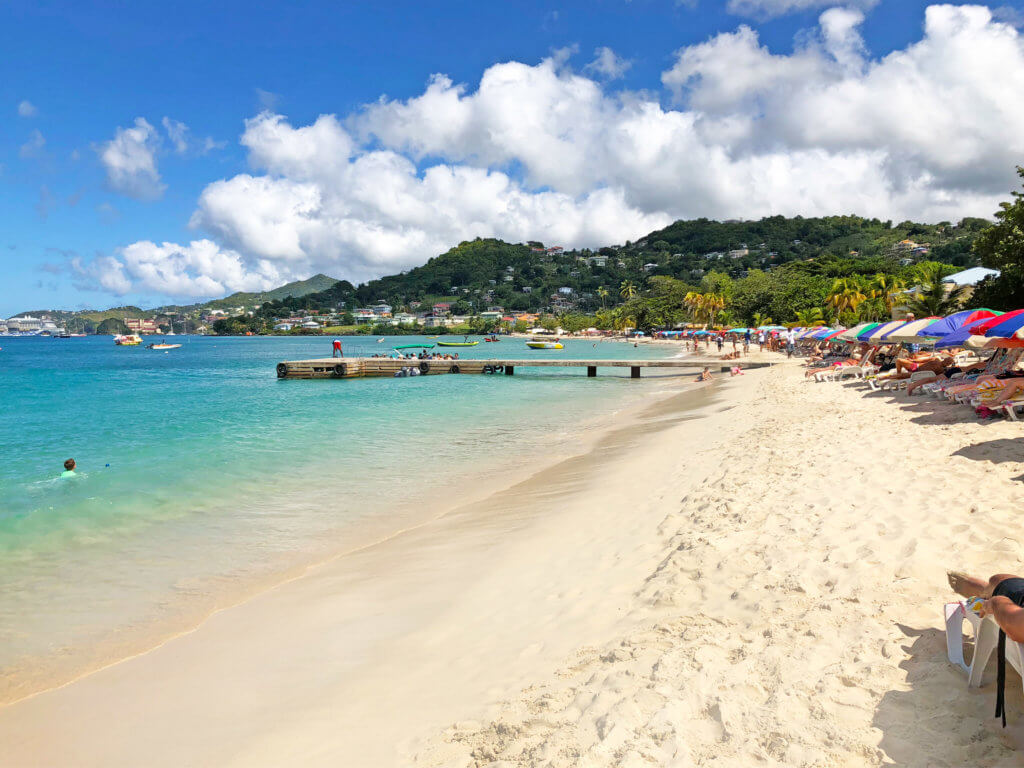 Grand Anse Beach in front of Grenada Grand Anse Vendors Market