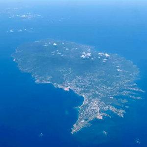 island of Grenada aerial view